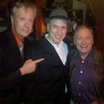 Todd Robbins, Me, Dick Cavett at PlayDead opening in NYC