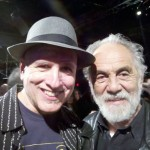 With Tommy Chong at Green Room Taping